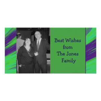 Green Blue Color Swish Picture Card