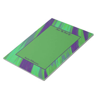 Green Blue Colour Swish Abstract Notepad