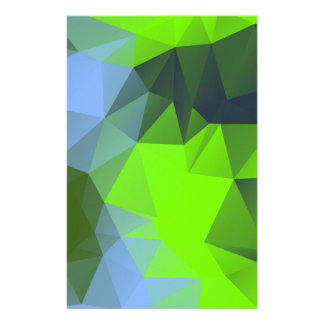 Green/blue context personalised stationery