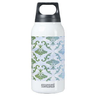 Green Blue Damask 0.3 Litre Insulated SIGG Thermos Water Bottle