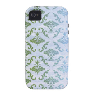 Green Blue Damask Vibe iPhone 4 Covers
