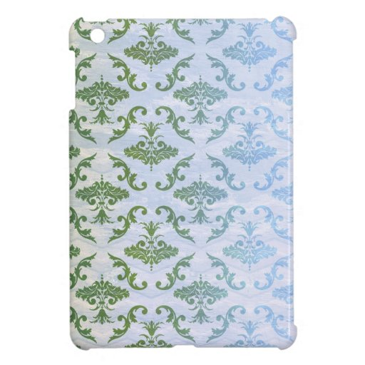 Green Blue Damask Cover For The iPad Mini