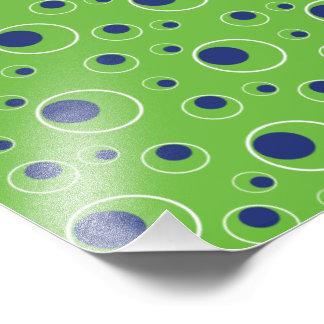 Green Blue Dots Background Pattern Photo Print