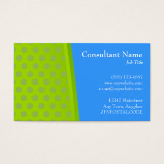 Green & Blue Dots Modern Card
