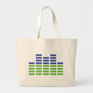 green blue equalizer audio sound bags