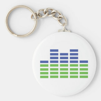 green blue equalizer audio sound key ring