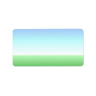 Green Blue Label Add Your Address Address Label
