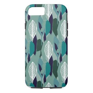 Green Blue Leaf Pattern iPhone 8/7 Case