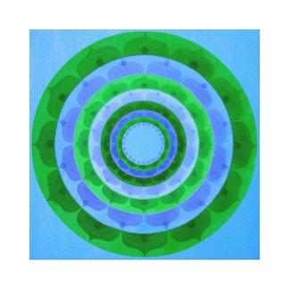 Green blue Mandala Canvas Print
