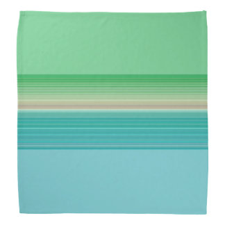 Green Blue Multicolor Striped Pattern Bandana