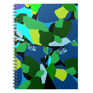 Green Blue Patterened Notebooks