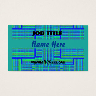 green blue plaid business card