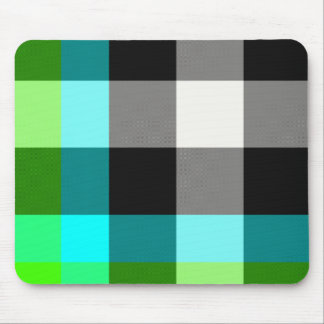 Green/Blue Plaid Mousepad