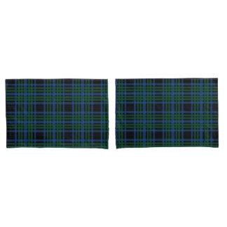 Green & Blue Plaid Pillow Cases
