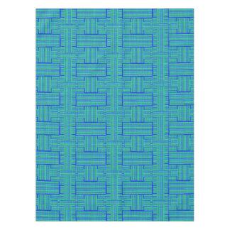 green blue plaid tablecloth