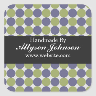 Green & Blue Polka Dots  Handmade By Stickers