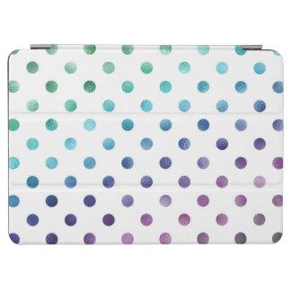 Green Blue Purple Rainbow Metallic Faux Foil iPad Air Cover