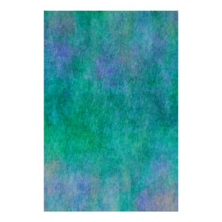 Green Blue Purple Watercolor Background Poster