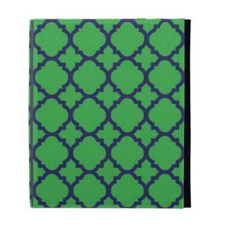 Green Blue Quatrefoil iPad Case