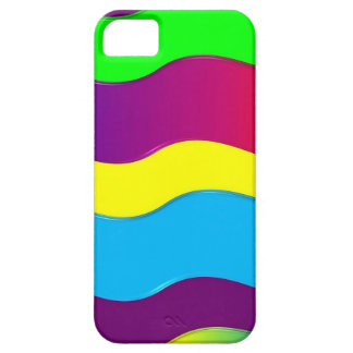 Green Blue Red Yellow Colorful Waves Pattern iPhone 5 Cases
