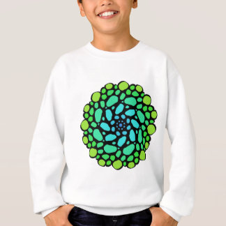 Green blue stone circle sweatshirt