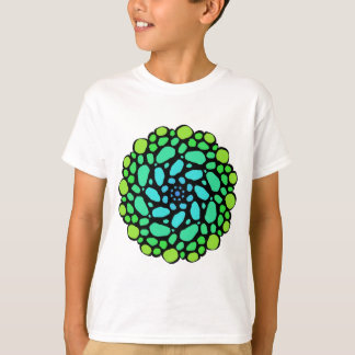 Green blue stone circle T-Shirt