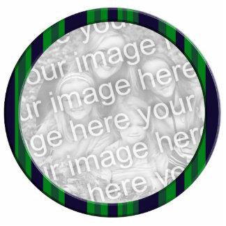 green blue striped photo frame photo sculpture decoration