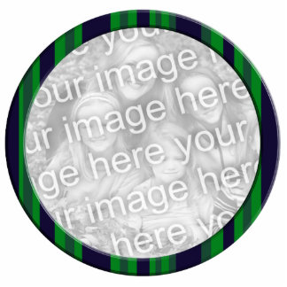 green blue striped photo frame acrylic cut outs