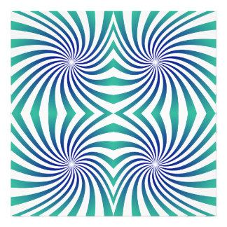 Green blue swirls photographic print