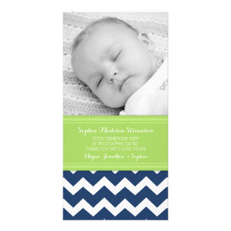 Green Blue Thank You Baby Shower Photo Cards