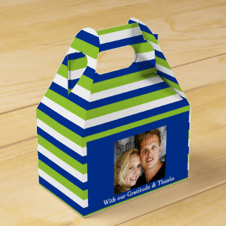 Green blue wedding PHOTO 2 Favour Box