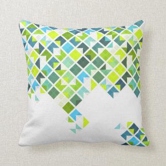 Geometric Blue Green Cushions - Geometric Blue Green Scatter Cushions Zazzle.com.au