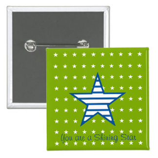 Green Blue White Stars Stripes Gifts Buttons