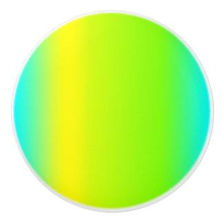 Green, Blue, Yellow, Gradient Design - Drawer Knob