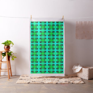 """Green Bluegreen Rose Silhouette Floral Fabric 56"""""""