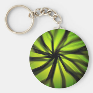 Green Blurred motion pattern Key Ring