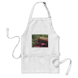 Green Boat and Flower Standard Apron