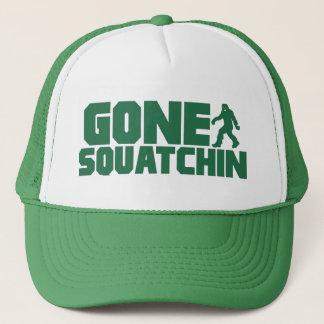 Green Bobo GONE SQUATCHIN Hat Finding Bigfoot