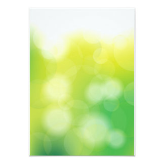 Green Bokeh 13 Cm X 18 Cm Invitation Card