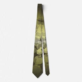 Green Bokeh Circles Tie