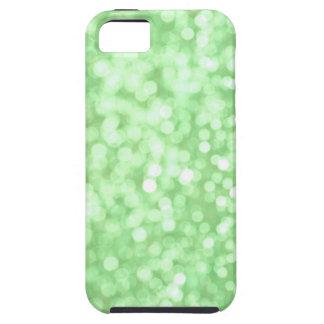 Green Bokeh Sparkle iPhone Case