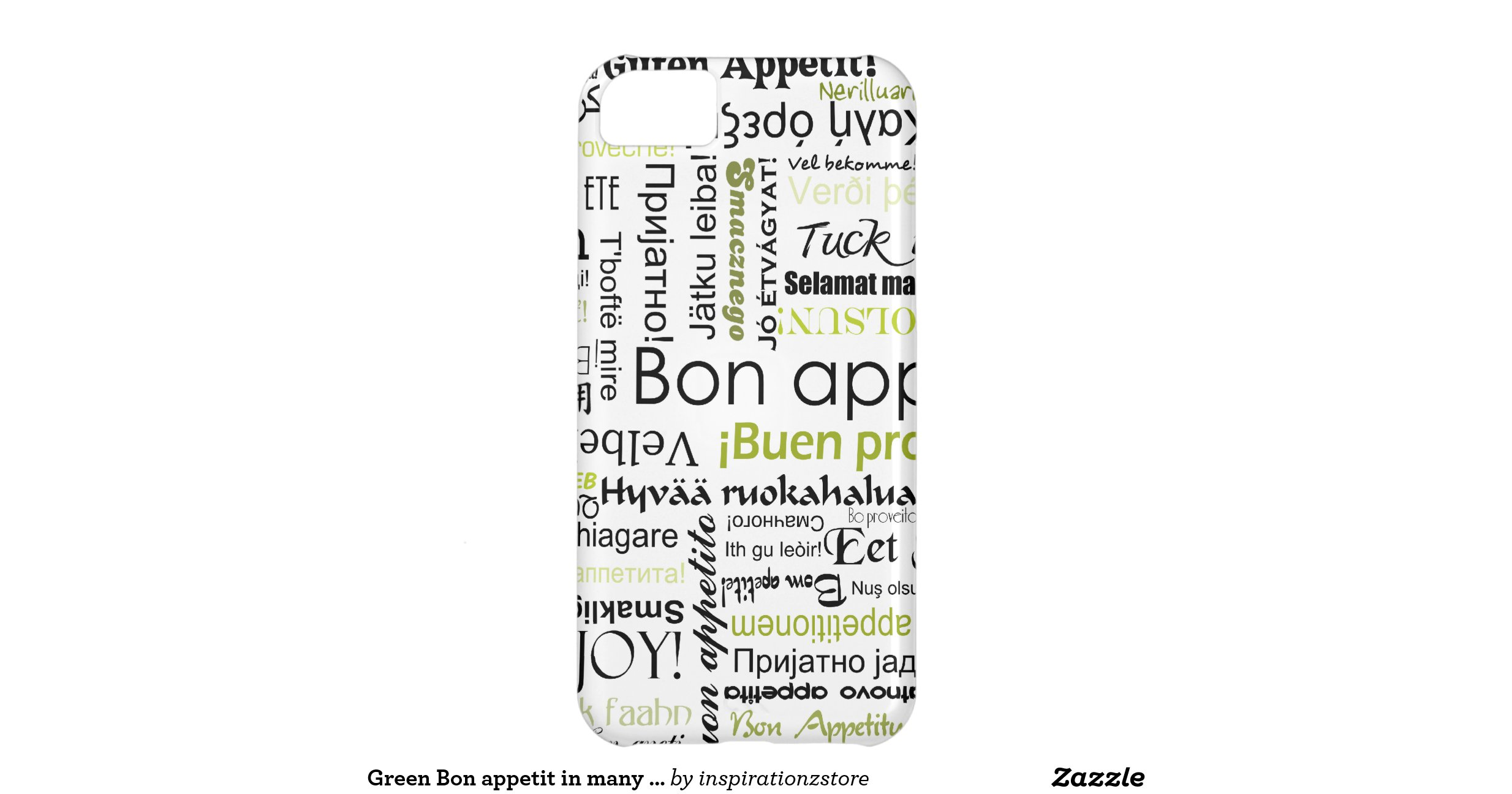 Green bon appetit in many different languages iphone 5c for Green in different languages