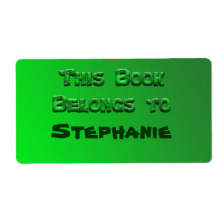 green book plate shipping label