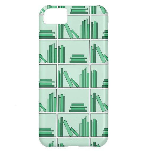 Green Books on Shelf. iPhone 5C Cases