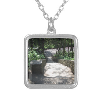 GREEN BOSPHORUS SILVER PLATED NECKLACE