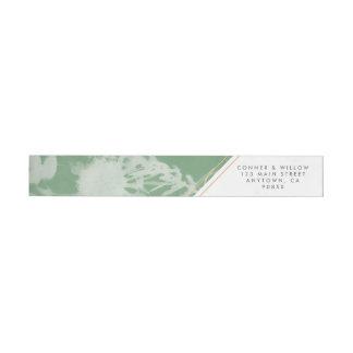 Green Botanical Wraparound Address Label