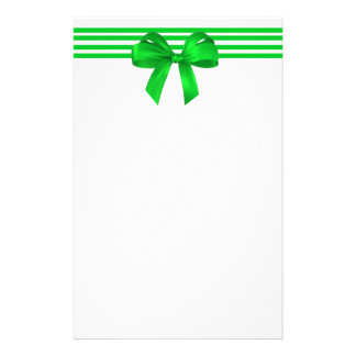Green Bow Christmas Stationery
