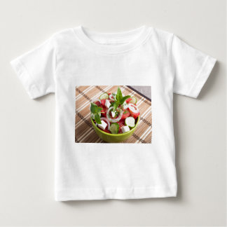 Green bowl with tasty and wholesome vegetarian baby T-Shirt