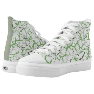 Green Branch Printed Shoes