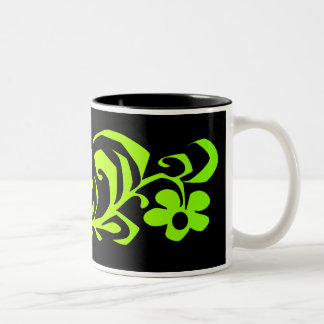green branch Two-Tone mug
